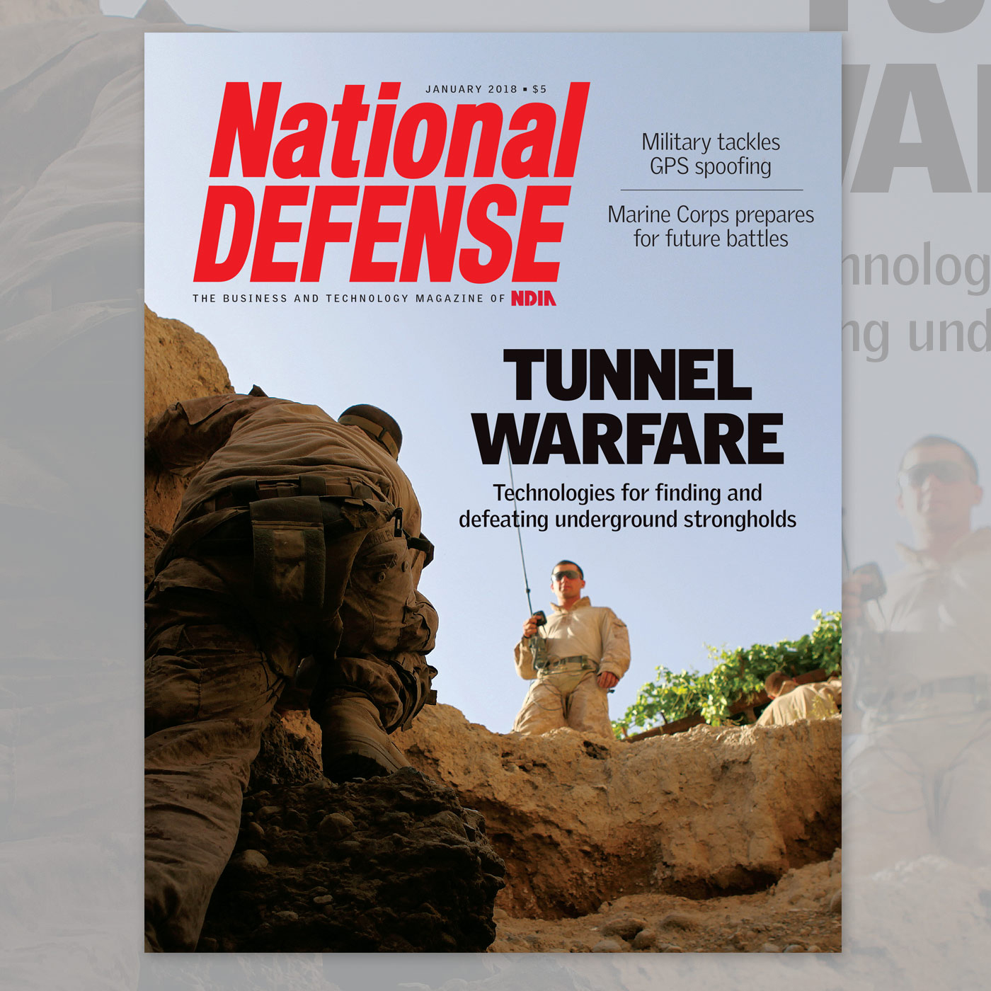 Artwork for January 2018 - Tunnel Warfare: Technologies for finding and defeating underground strongholds