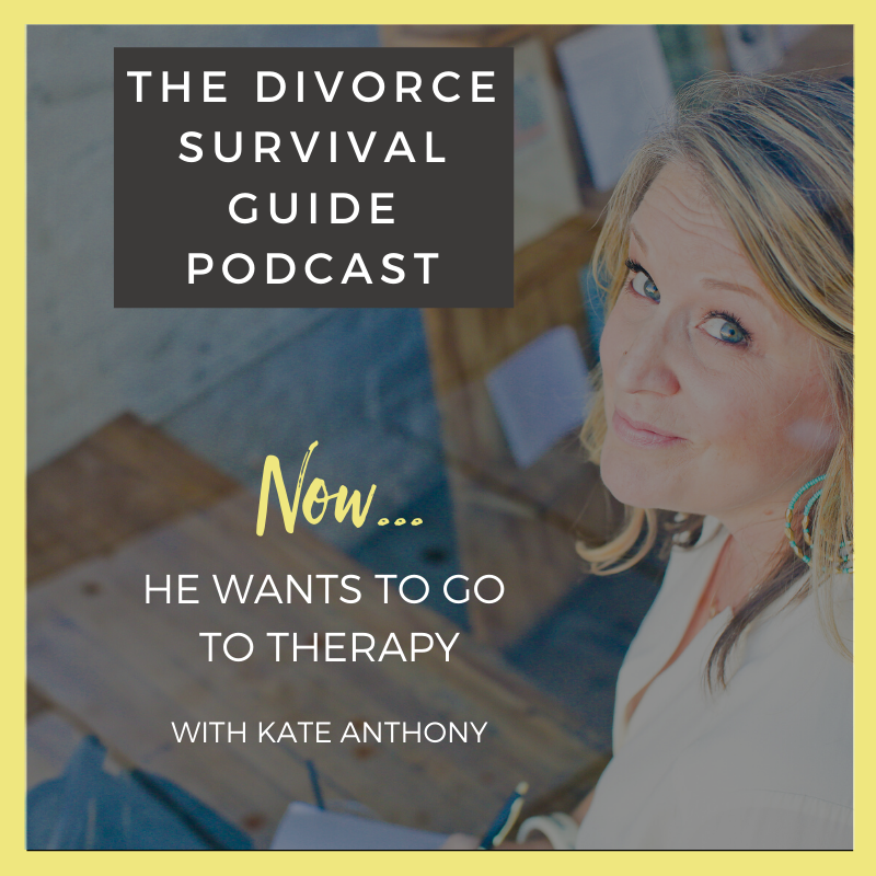 The Divorce Survival Guide Podcast - NOW...he wants to go to therapy.