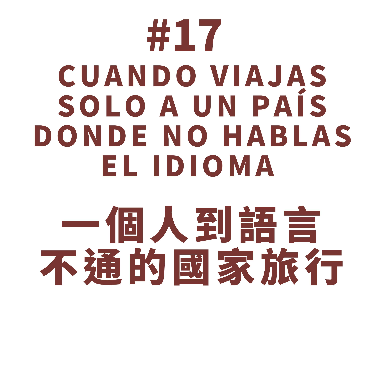 17. Cuando viajas solo a un país donde no hablas el idioma 一個人到語言不通的國家旅行