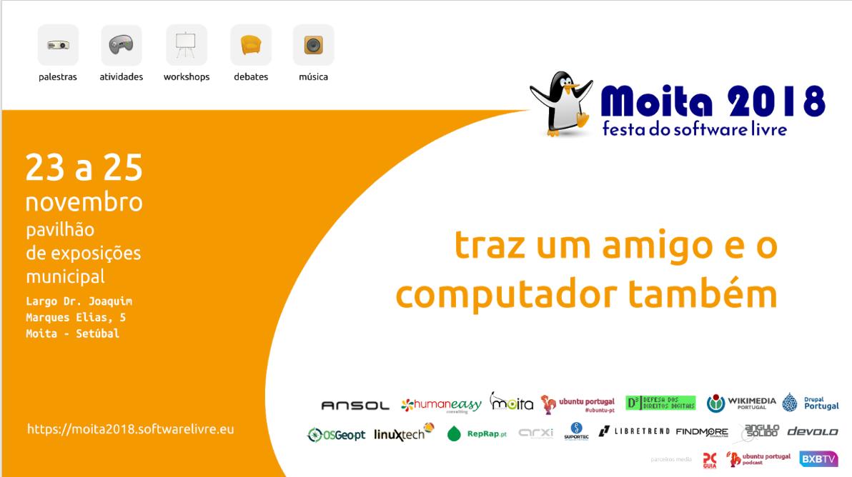 Artwork for Festa Software Livre 2018 - Lopo Lencastre de Almeida
