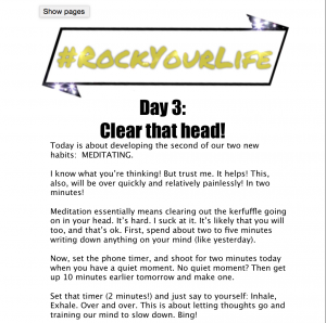 #RockYourLife Day 3!