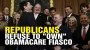 """Artwork for Republicans refuse to """"own"""" Obamacare as it collapses"""