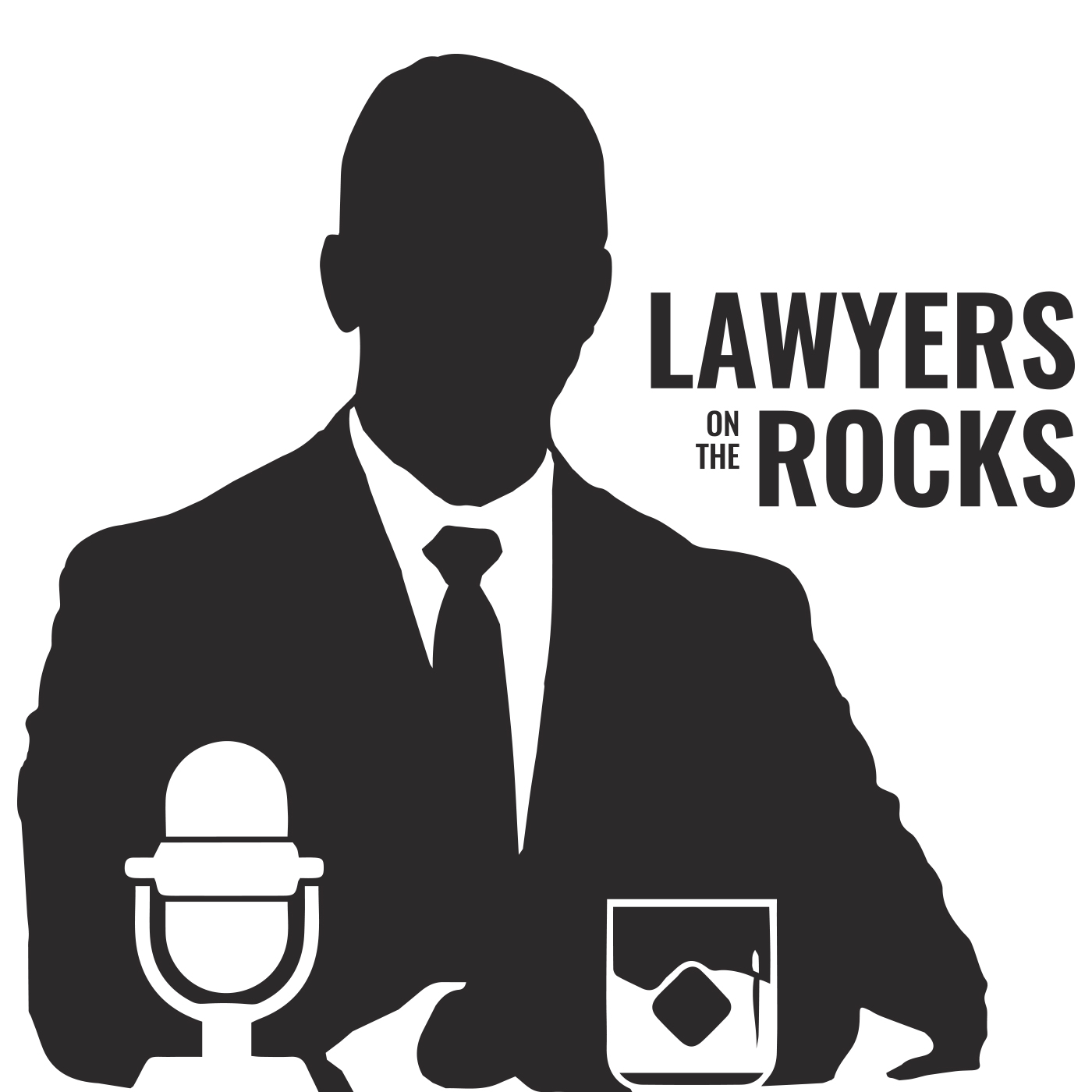 Lawyers on the Rocks podcast show art