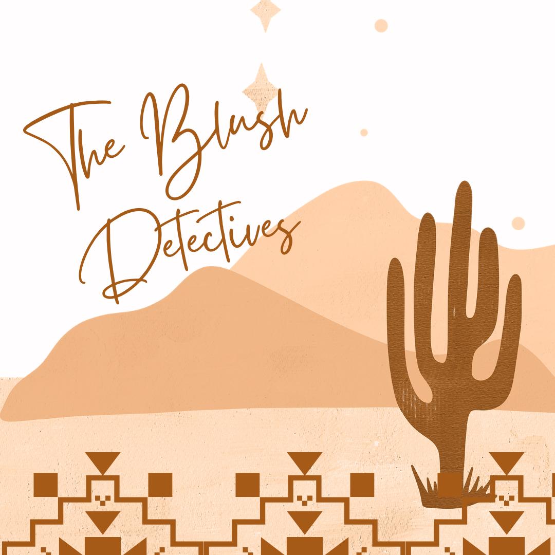 The Blush Detectives podcast show art
