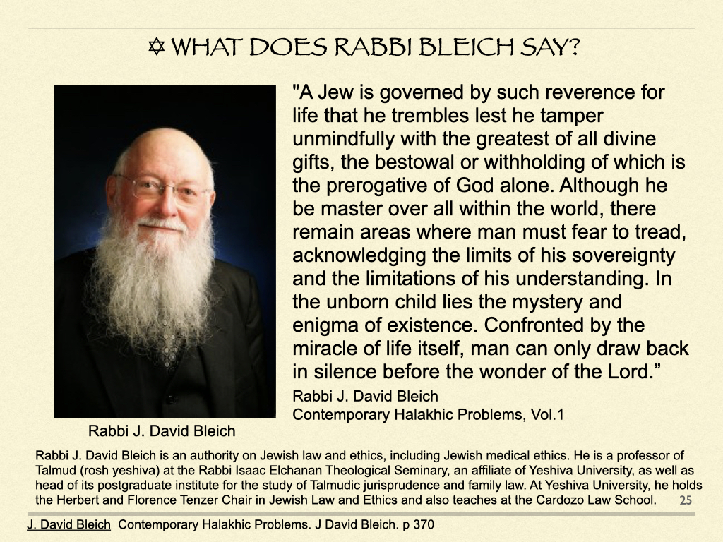 What Does Rabbi Bleich Say?