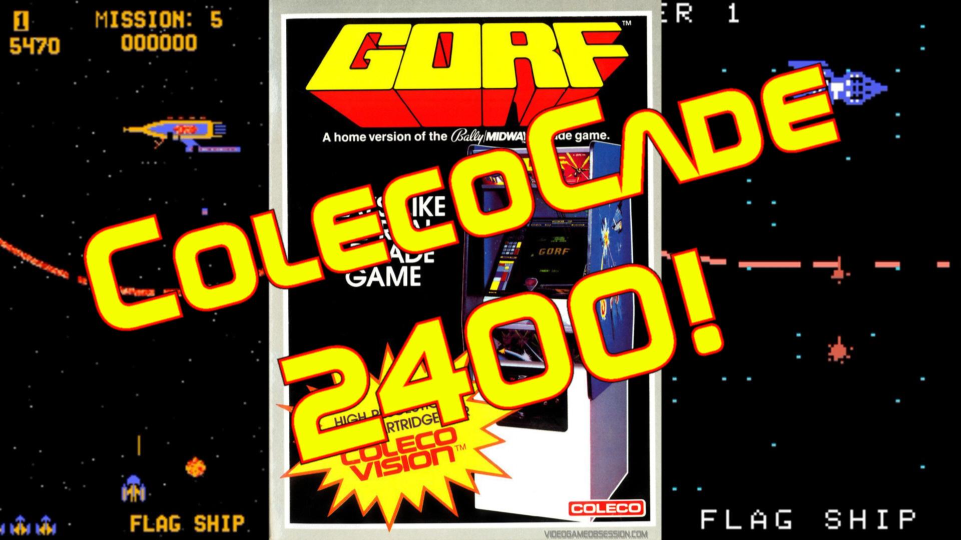 ColecoCade 2400! Gorf! show art