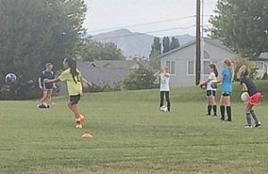 Soccer practice.