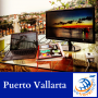 Artwork for Puerto Vallarta, Mexico | Mike LaRosa lounges on the famous Blue Chairs