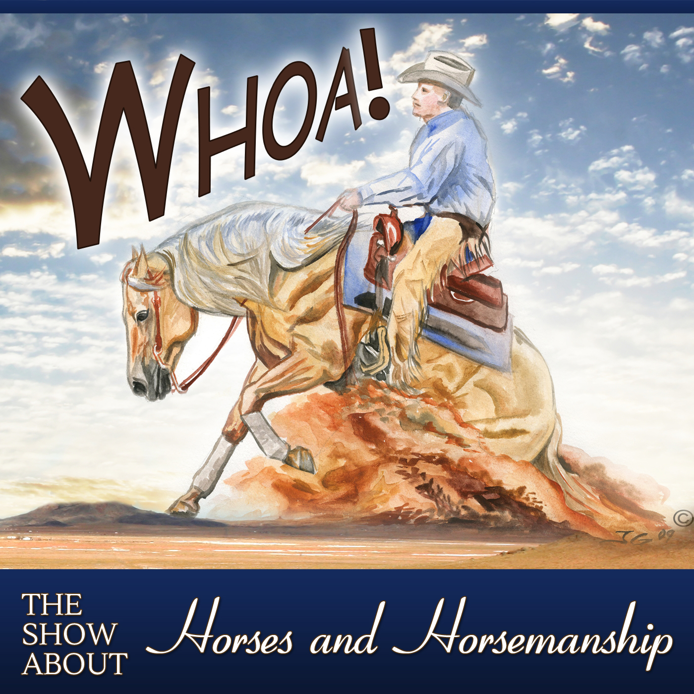 Whoa Podcast About Horses Horsemanship show art
