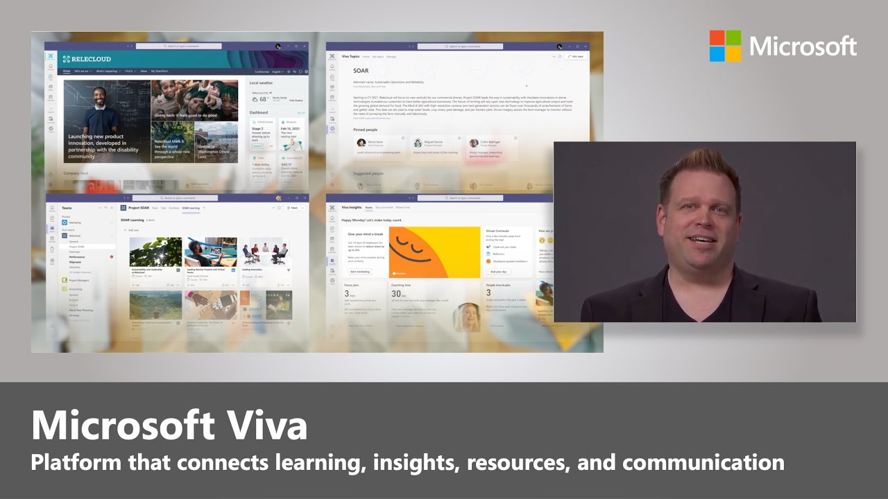 Artwork for Introduction to Microsoft Viva, an Employee Experience Platform