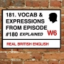 Artwork for 181. Vocabulary & Expressions from Episode 180.