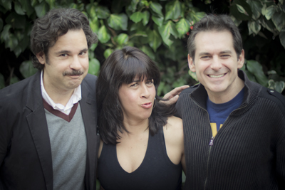 Paul F. Tompkins, Stef Zamorano, and Jimmy Dore
