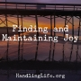 Artwork for Finding and Maintaining Joy