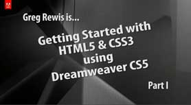 Creating HTML 5 with Dreamweaver CS5 - Part I