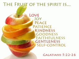 The Fruit Of The Spirit Is - Kindness and Goodness