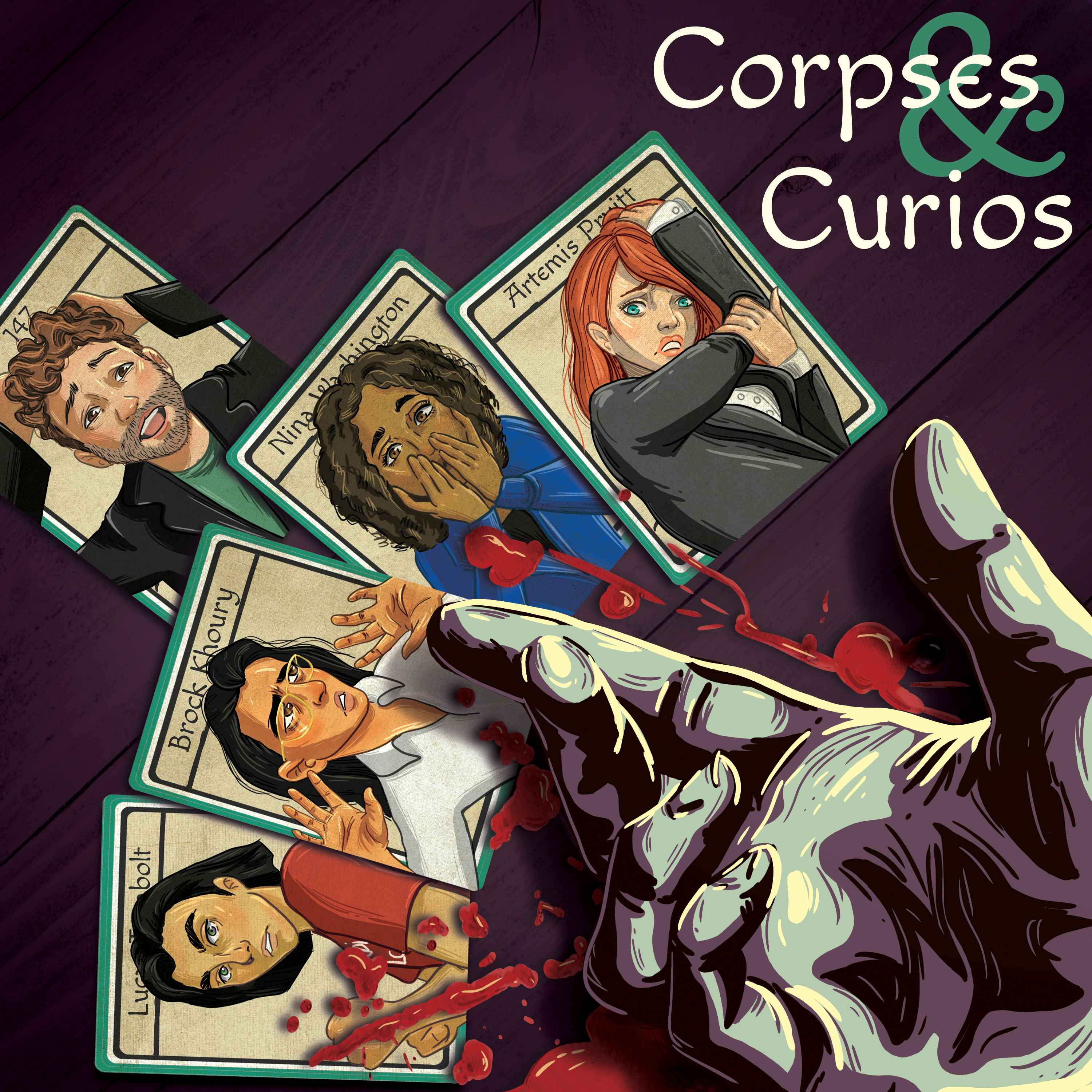 Corpses & Curios: A (mostly) GURPS podcast show art