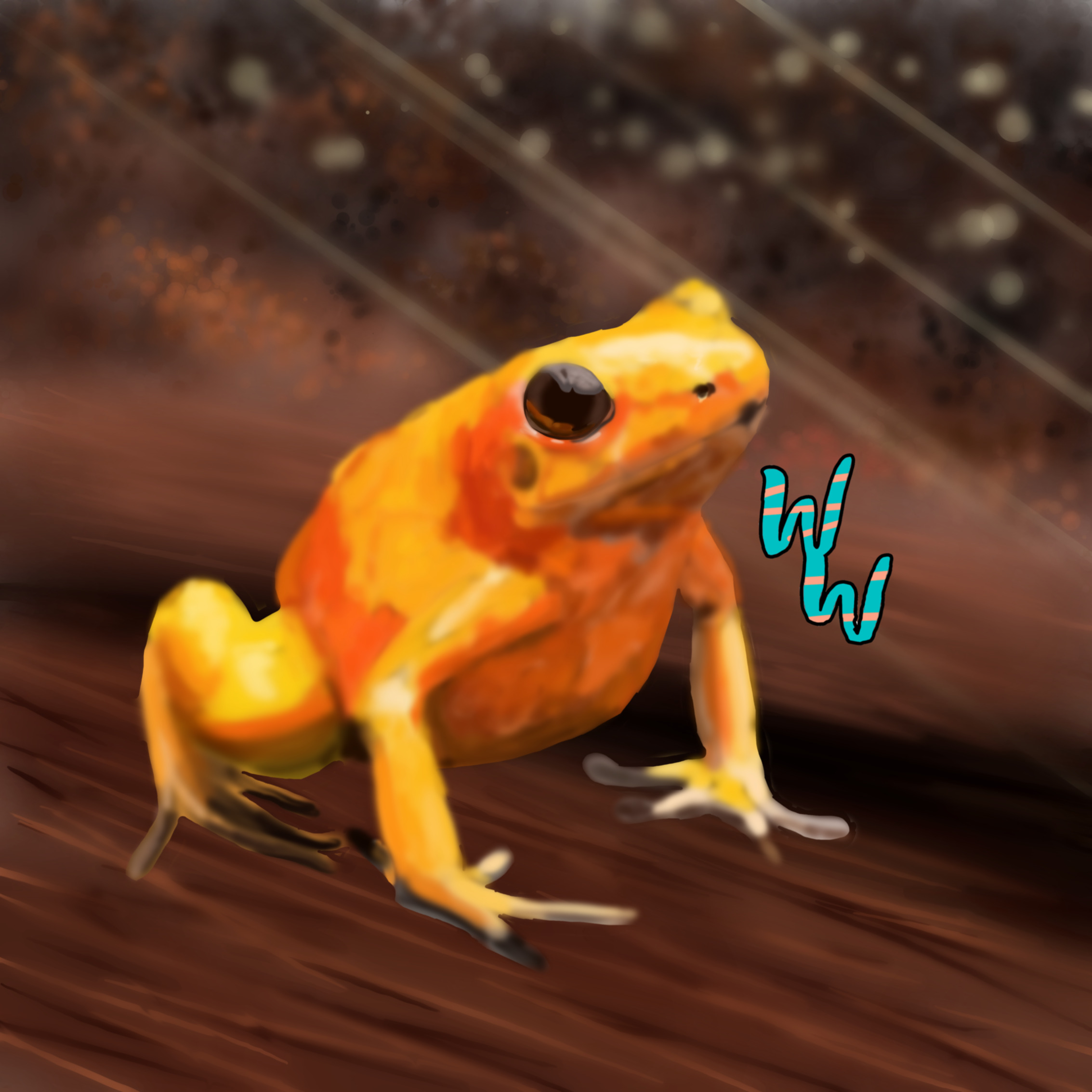 Artwork for Golden Poison Frog