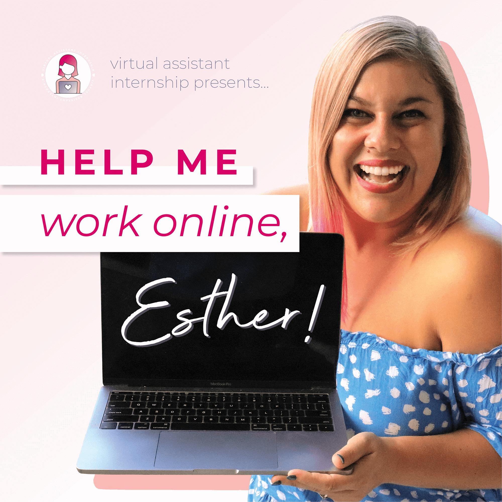 Help Me Work Online, Esther! show art
