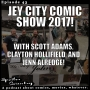 Artwork for Jet City Comic Con 2017 with Scott Adams, Clayton Hollifield and Jenn Alredge!