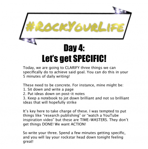 #RockYourLife Day 4!