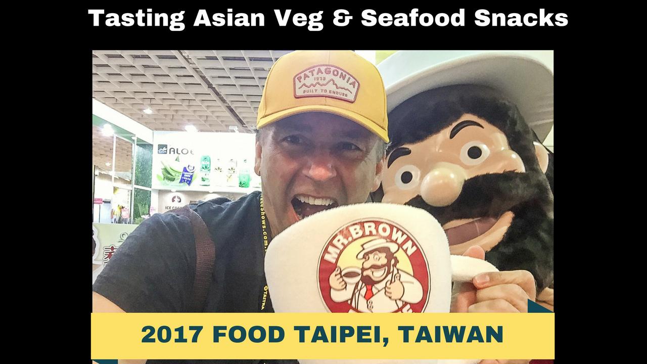 Artwork for Tasting Asian Veg/Seafood Snacks-2017 Food Taipei, Taiwan