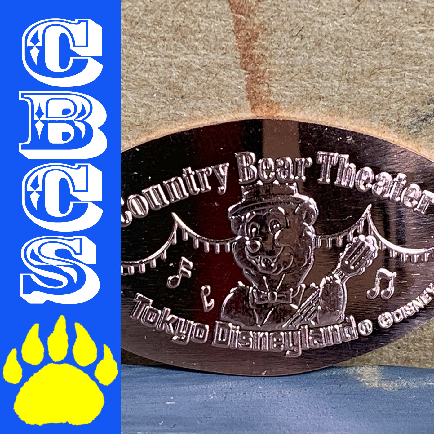 Artwork for 2019 Tokyo Disneyland Henry Pressed Penny Medallion - Country Bear Collector Show #199