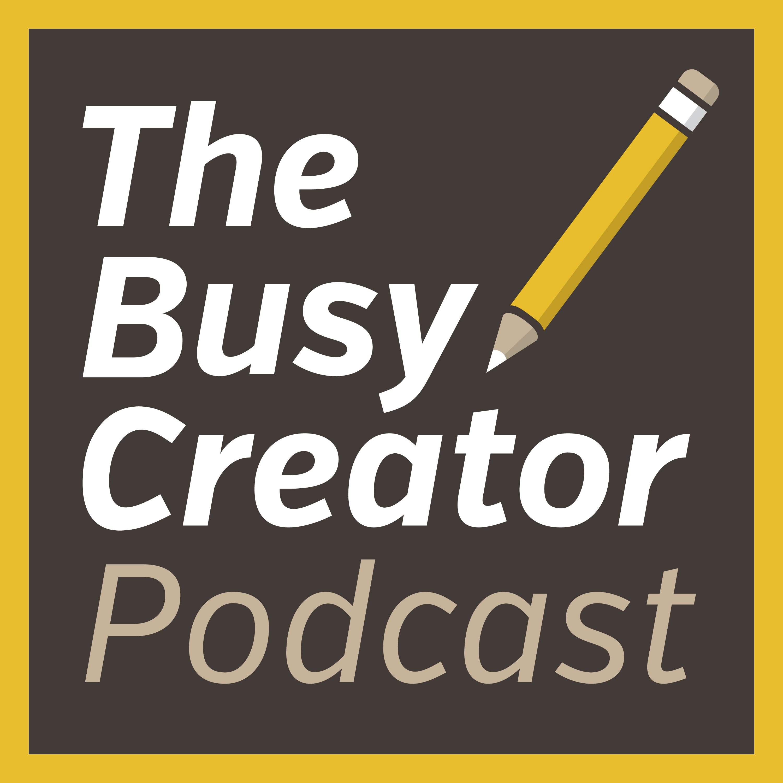 The Busy Creator Podcast with Prescott Perez-Fox show art