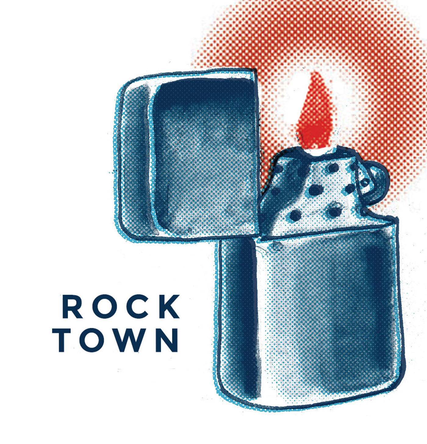 The Rock Town Podcast show art