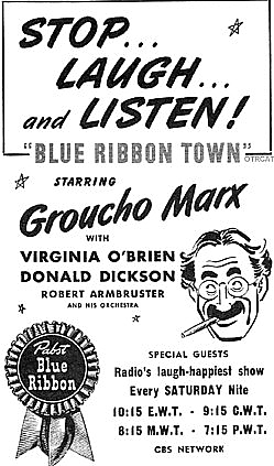 166-130722 In the Old-Time Radio Corner - Blue Ribbon Town