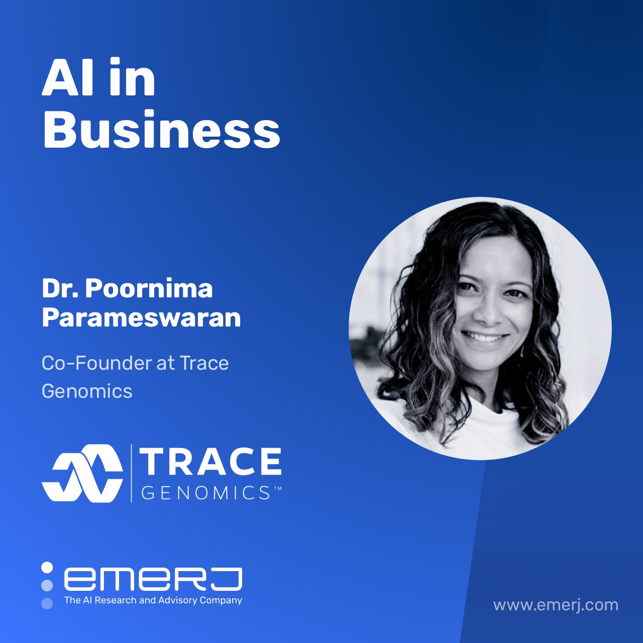 The Powerful Potential of AI in Agriculture - with Poornima Parameswaran of Trace Genomics
