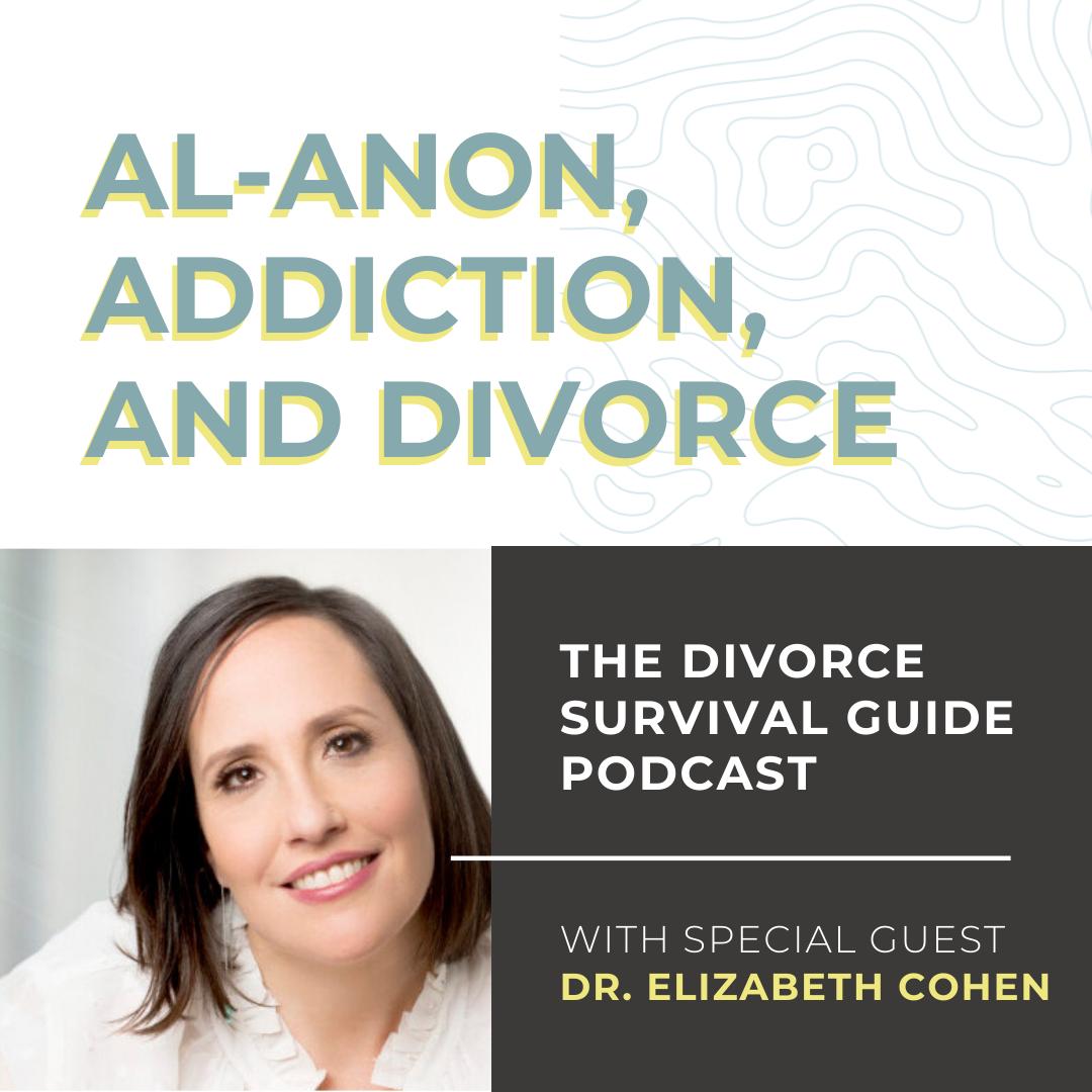 The Divorce Survival Guide Podcast - Al-Anon, Addiction, and Divorce with Dr. Elizabeth Cohen