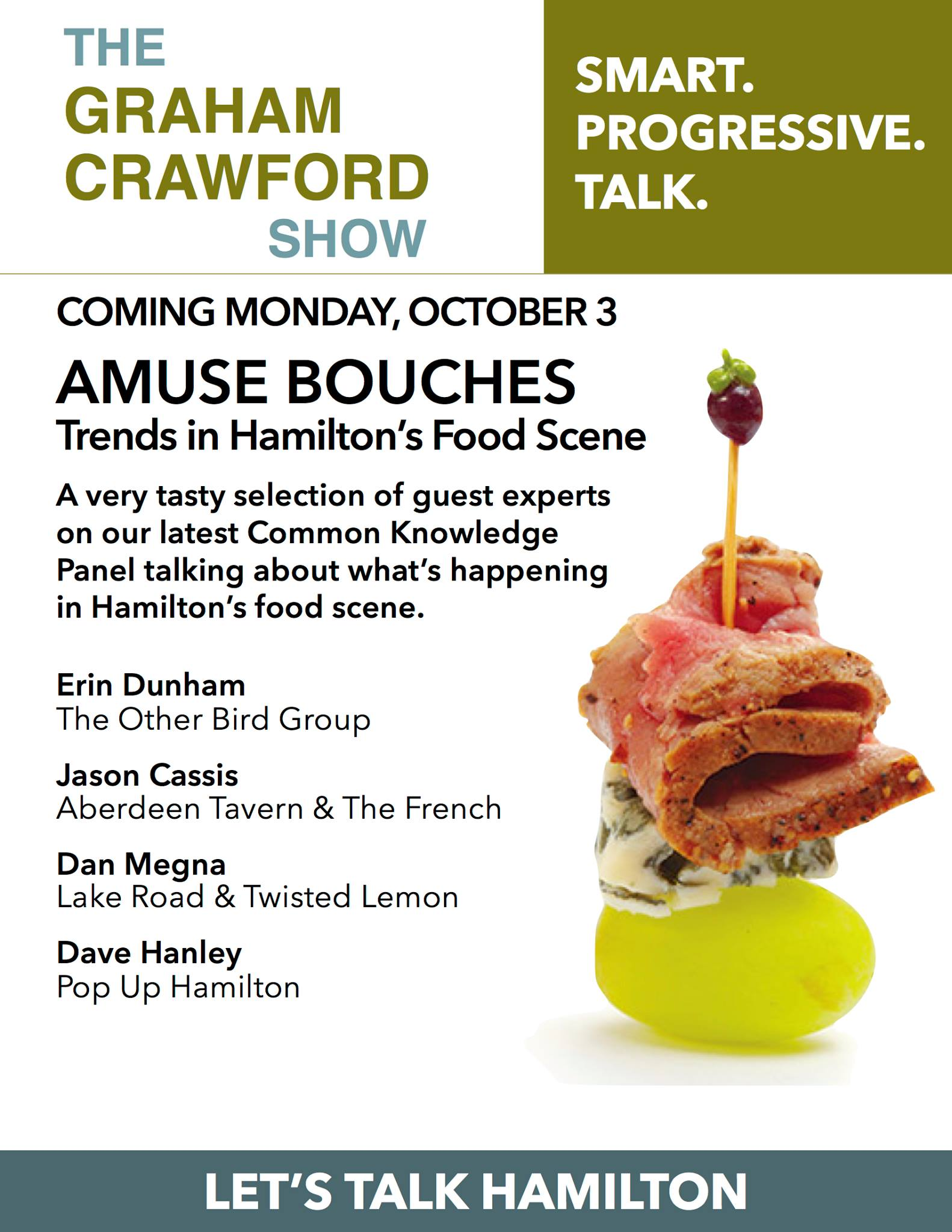 Graham Crawford Show podcast Hamilton Food Scene