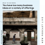 Artwork for What to do when you a few business ideas or a variety of offerings