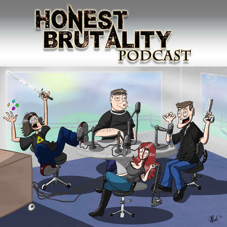 Honest Brutality Podcast show art