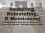 Artwork for Restoring. Reinstating. Maintaining.