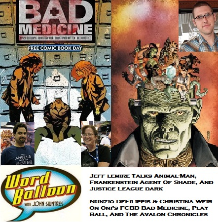 Word Balloon Podcast ep 391 Jeff Lemire On Animal Man and Free Comic Book Day Talk w Nunzio DeFilippis and Christina Weir