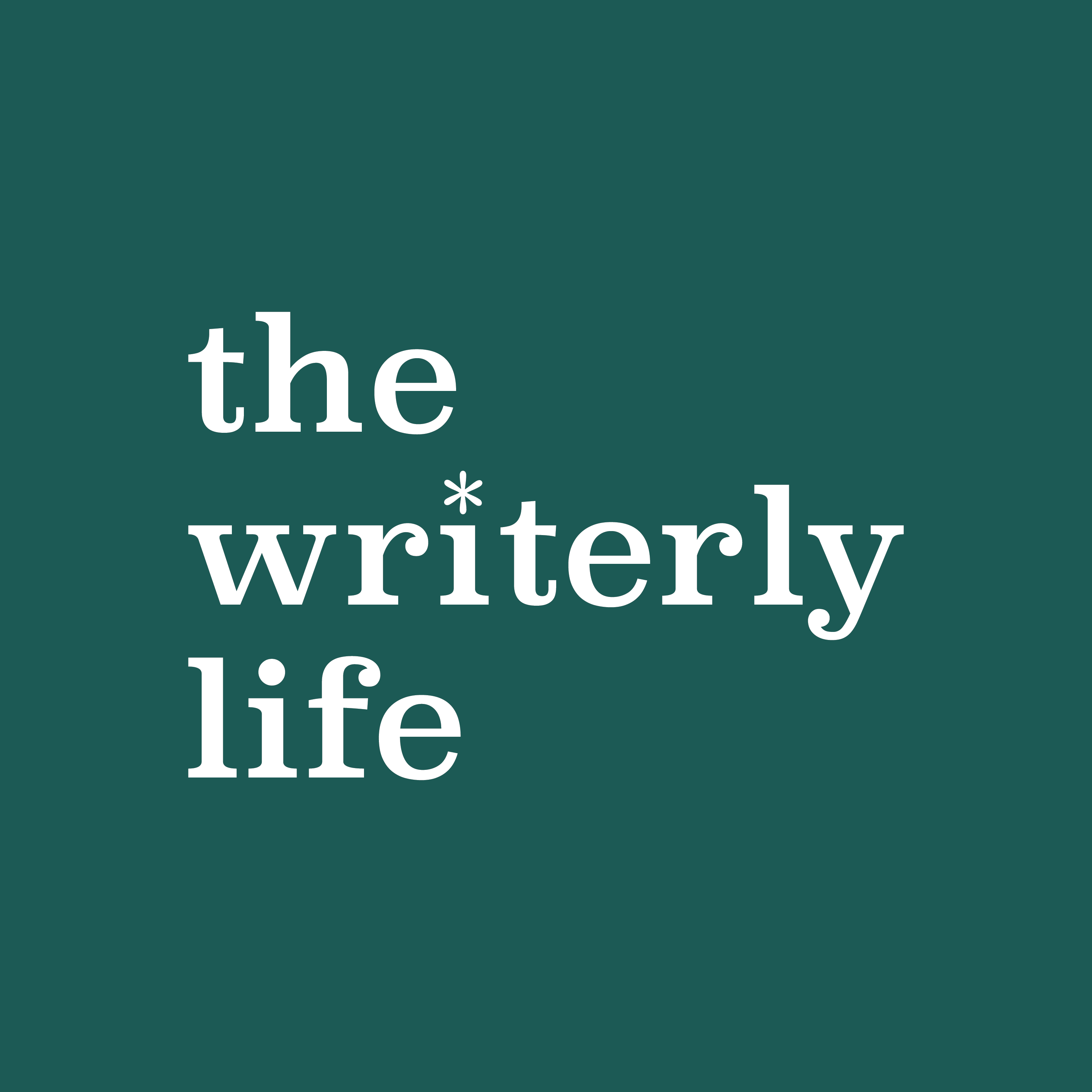 Welcome to The Writerly Life - When you're ready to make progress in your writing life, we're here to help!