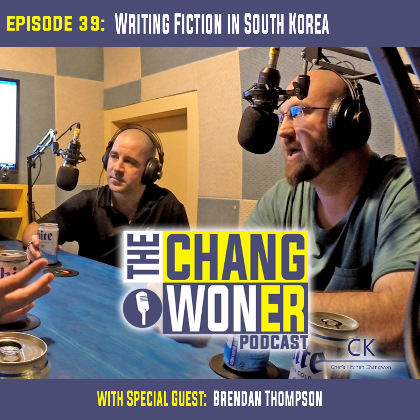 Artwork for Writing Fiction and Publishing in South Korea. -guest Brendan Thompson (Ep 39)