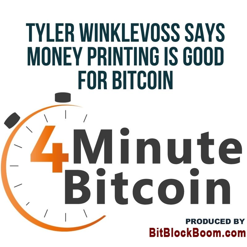 Tyler Winklevoss Says Money Printing Is Good for Bitcoin