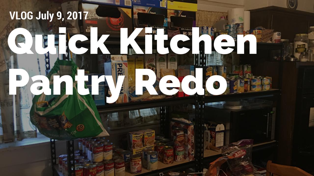 Artwork for VLOG: Quick Kitchen Pantry Redo