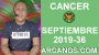 Artwork for HOROSCOPO CANCER - Semana 2019-36 Del 1 al 7 de septiembre de 2019 - ARCANOS.COM...