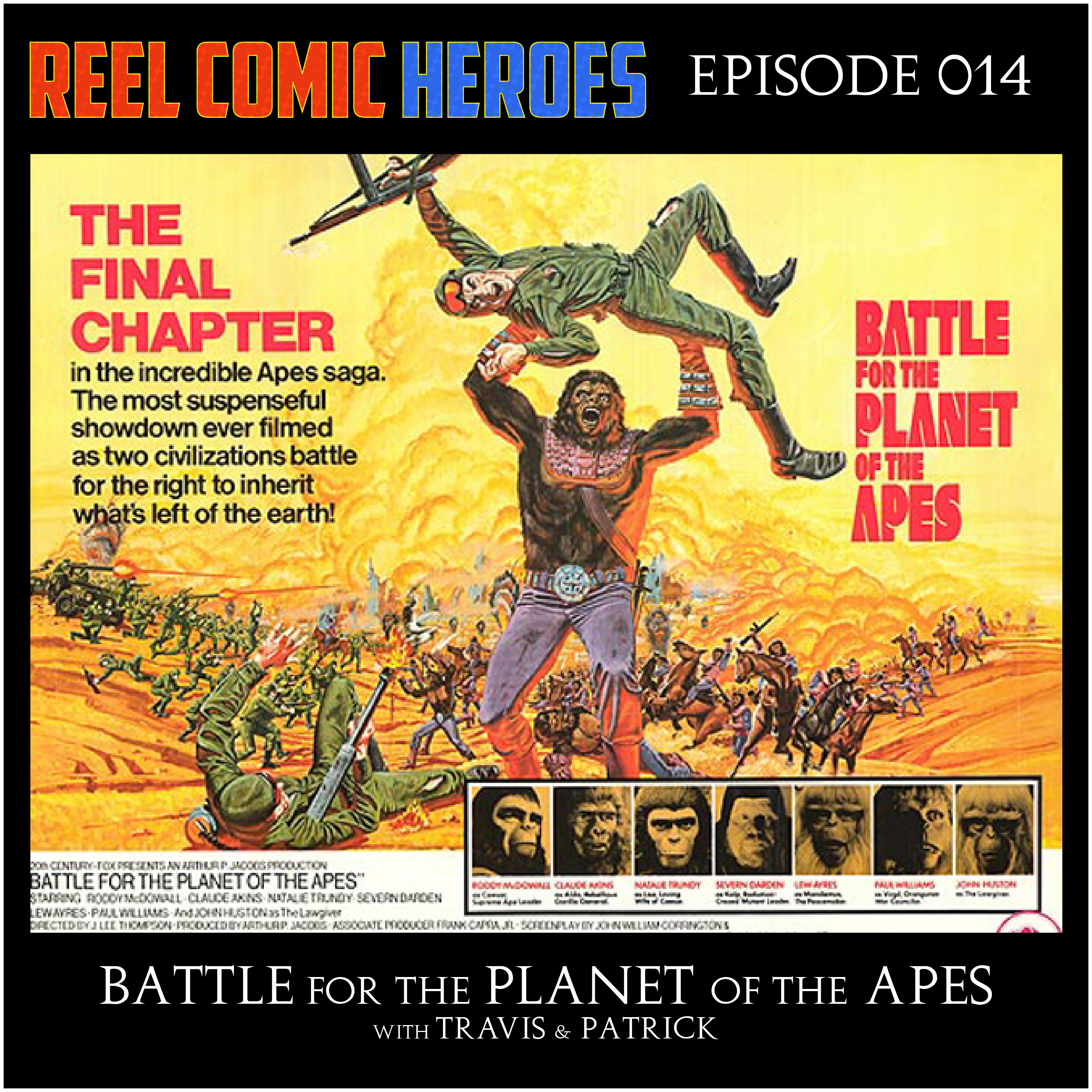 Artwork for Reel Comic Heroes 014 - Battle for the Planet of the Apes