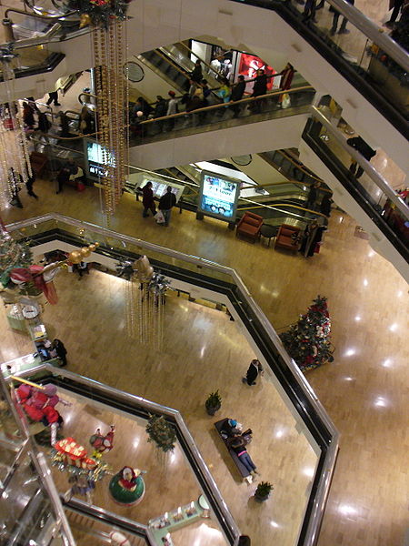 interior of a Chicago Mall