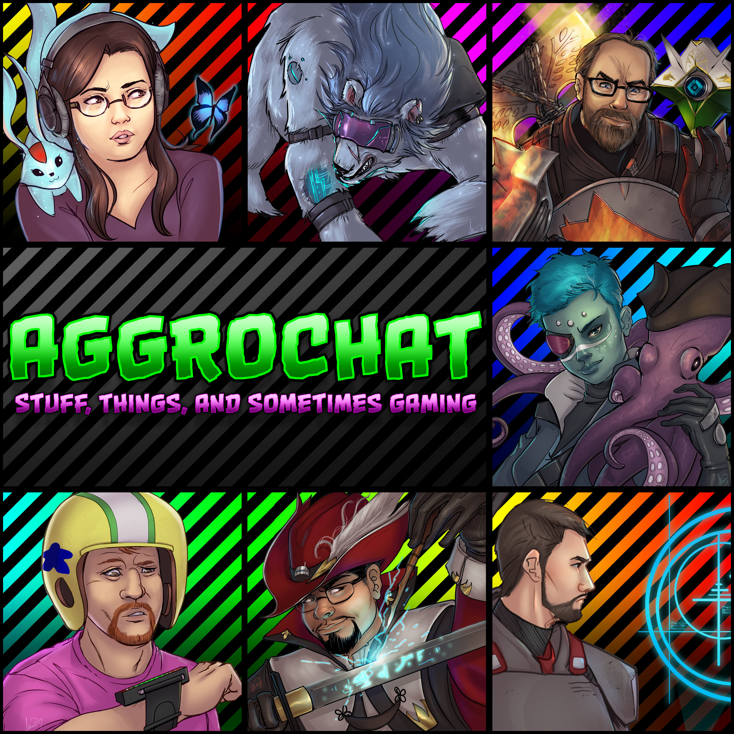 AggroChat: Tales of the Aggronaut Podcast show art