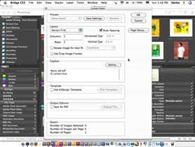 Use the NEW Caption Options in InDesign CS3 Contact Sheets