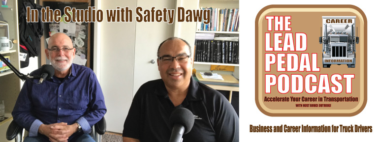Safety dawg and Bruce in the studio