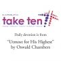 Artwork for CMBC Take Ten Devotionals - April 14