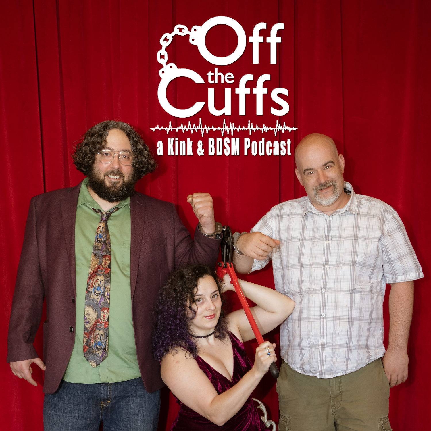 Off the Cuffs: a kink and BDSM podcast show art