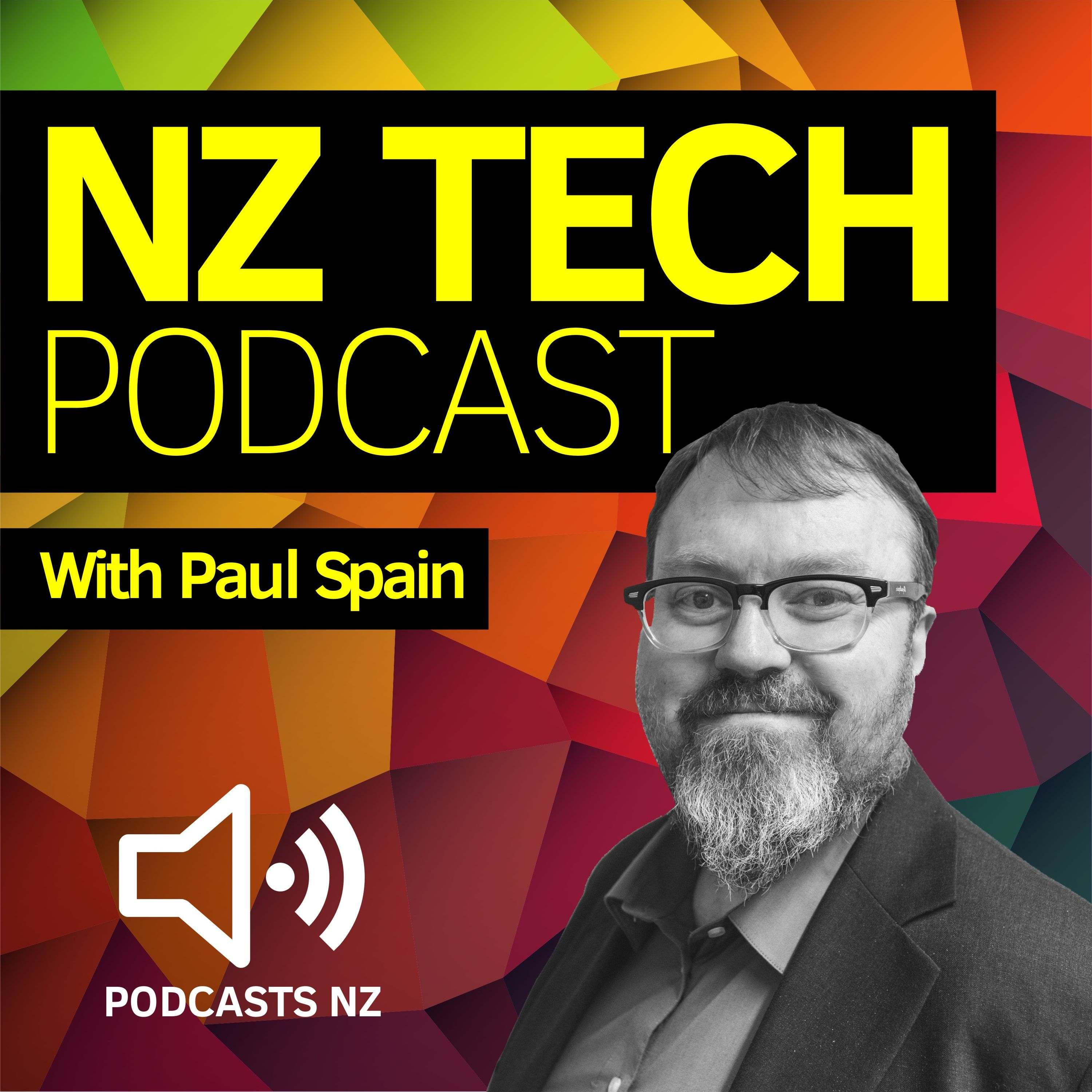 NZ Tech Podcast - with Paul Spain show art