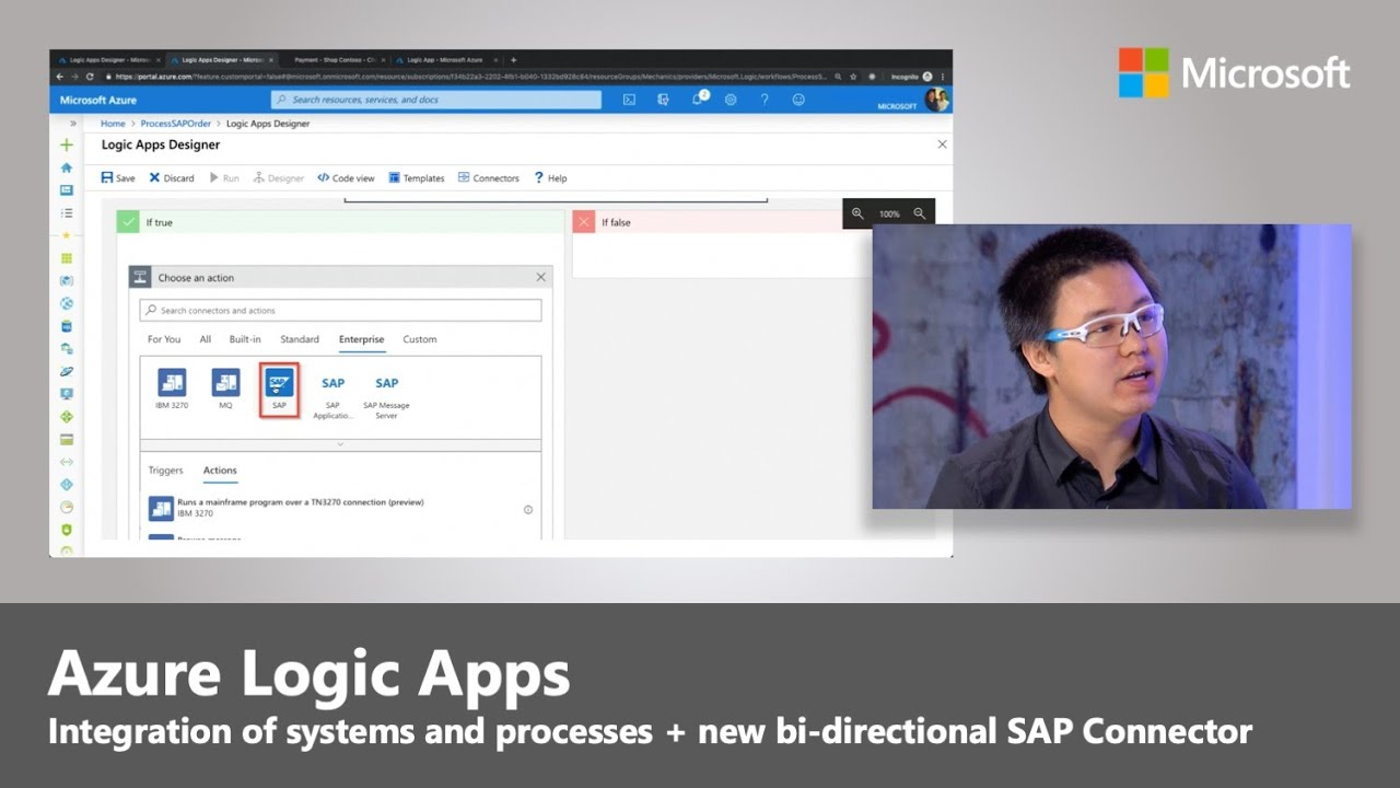 Artwork for Integration of your systems and processes with Azure Logic Apps + new bi-directional SAP Connector